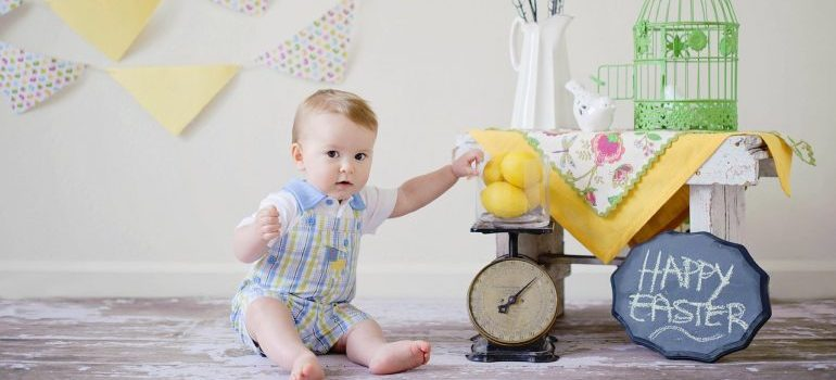 boys nursery and a baby